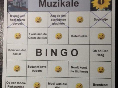 Muzikale bingo op maandag 26 augustus